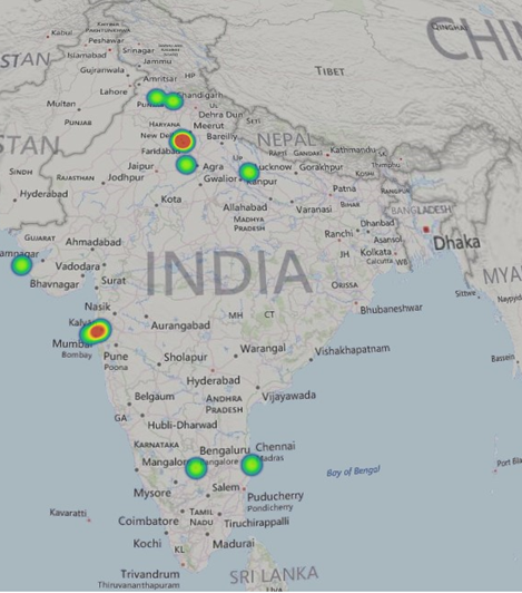 India Spammer Heat Map