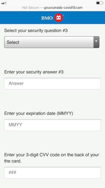 BMO fake site page 2