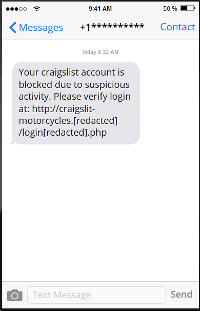 Craigslist SMS Phishing | AdaptiveMobile