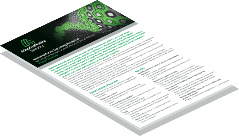 Download Signalling Protection Product Overview
